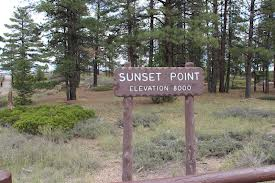 Bryce Sunset Point Sign